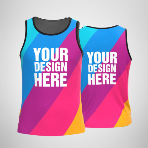 Customized Men's Tank Top Sublimation Designs