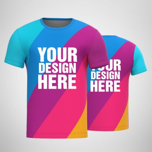 Customized Sublimation Men's T-shirt All Over Print