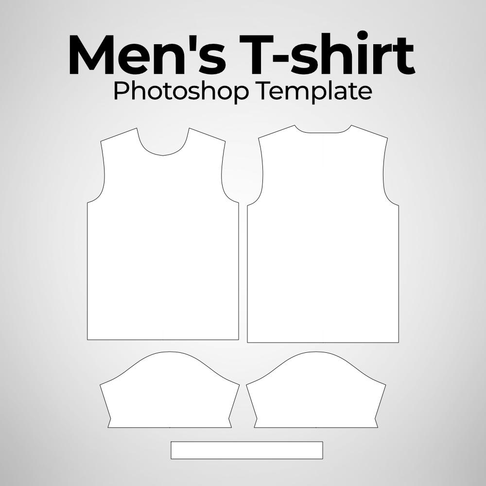 Men's t-Shirt Photoshop Pattern Template