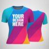 Customized Sublimation Print Women's T-shirt