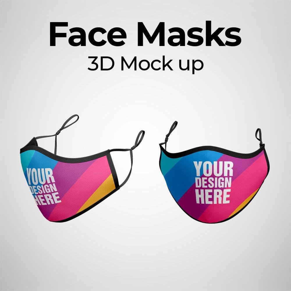Face Mask 3d Mockup