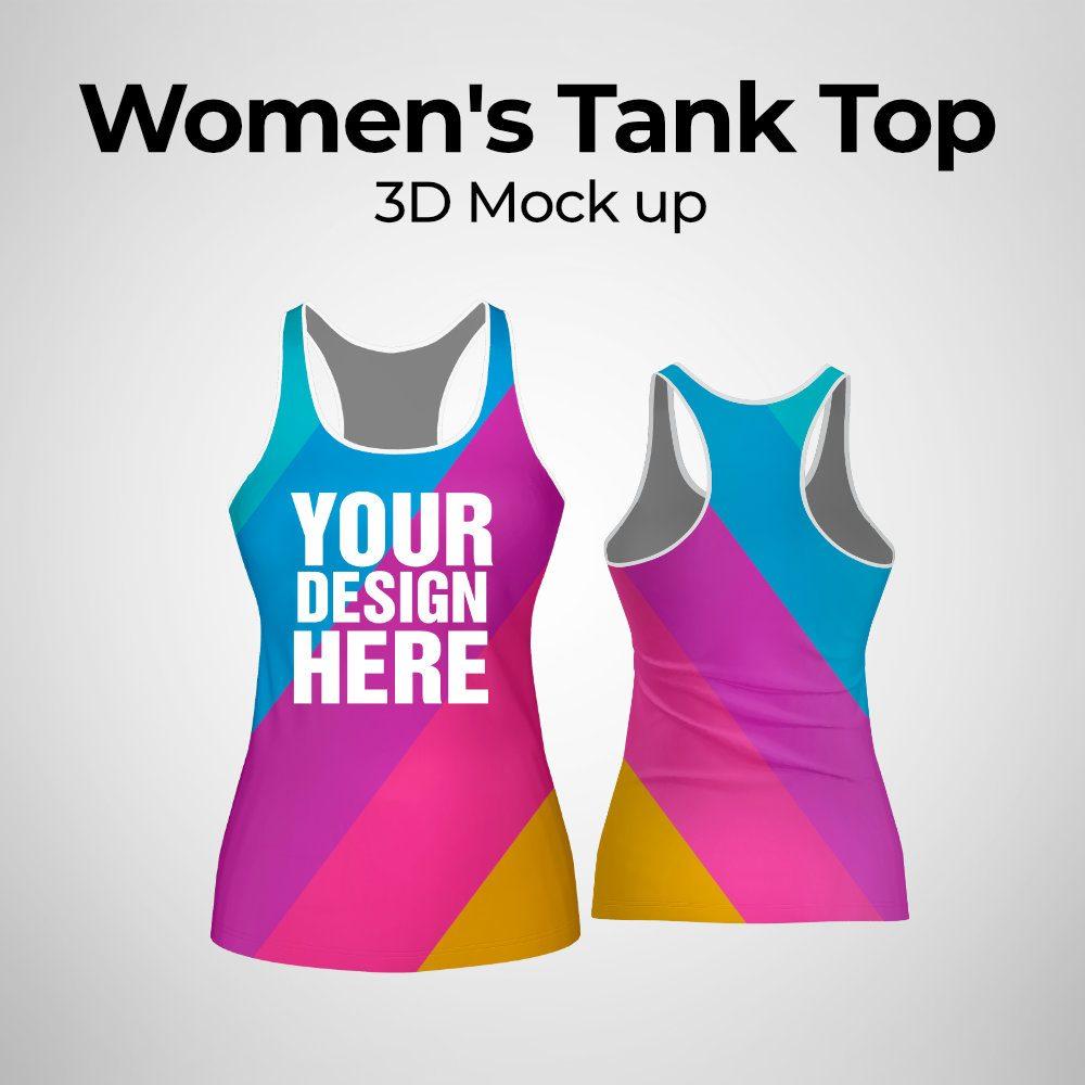 Women's Tank Top 3d Mockup