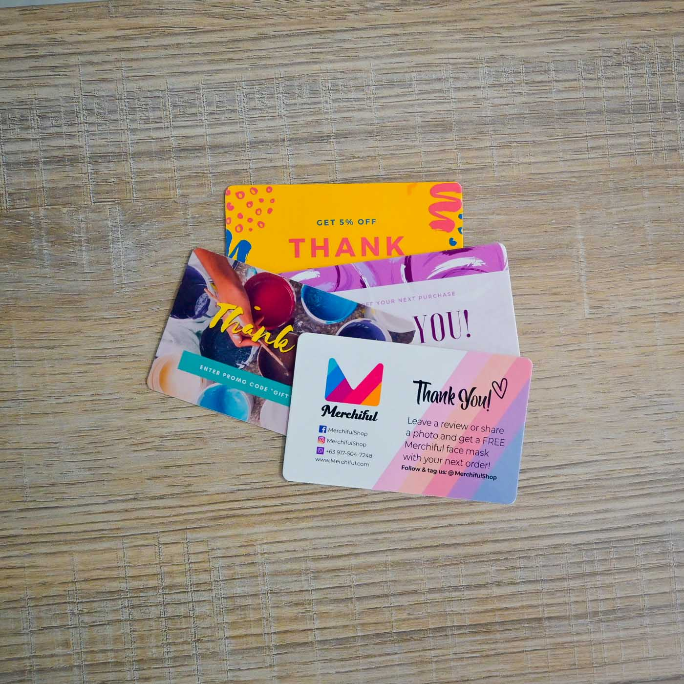 Package Inserts - Custom Gift Card Business Card with Logo