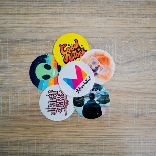 Branded Package Inserts - Round Stickers with Design or Logo