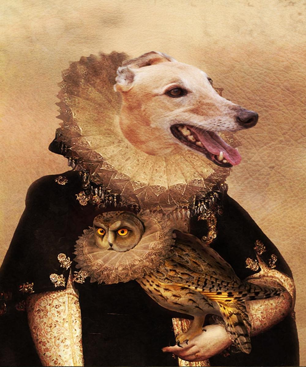 Italian Greyhound Royal Portrait