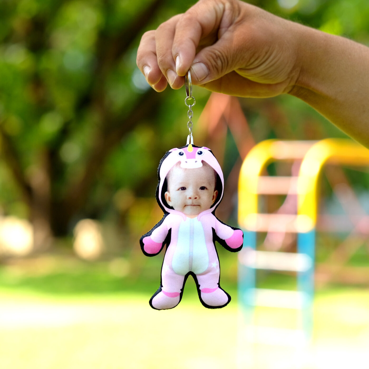 Human Doll Pillow Keychain