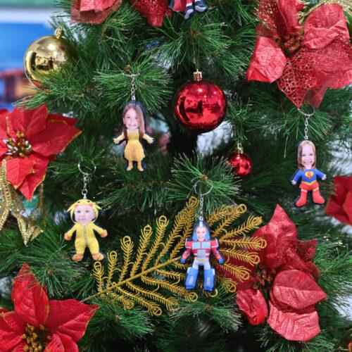 Human Doll Christmas Ornaments Keychain Pillows