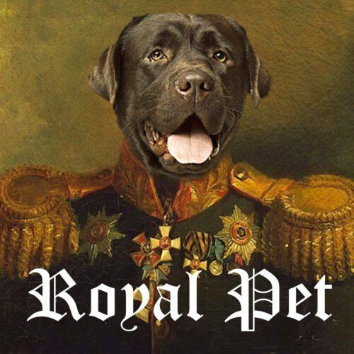 Royal Pet Portrait: Dog and Cat Royal Paintings