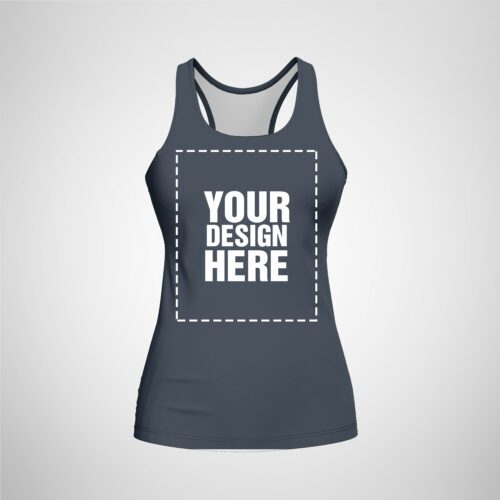 Womens Racerback - Dark Gray Color