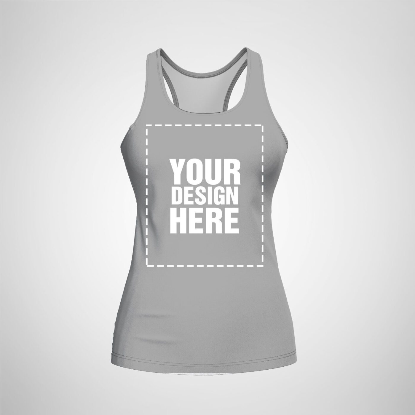 Womens Racerback - Gray Color