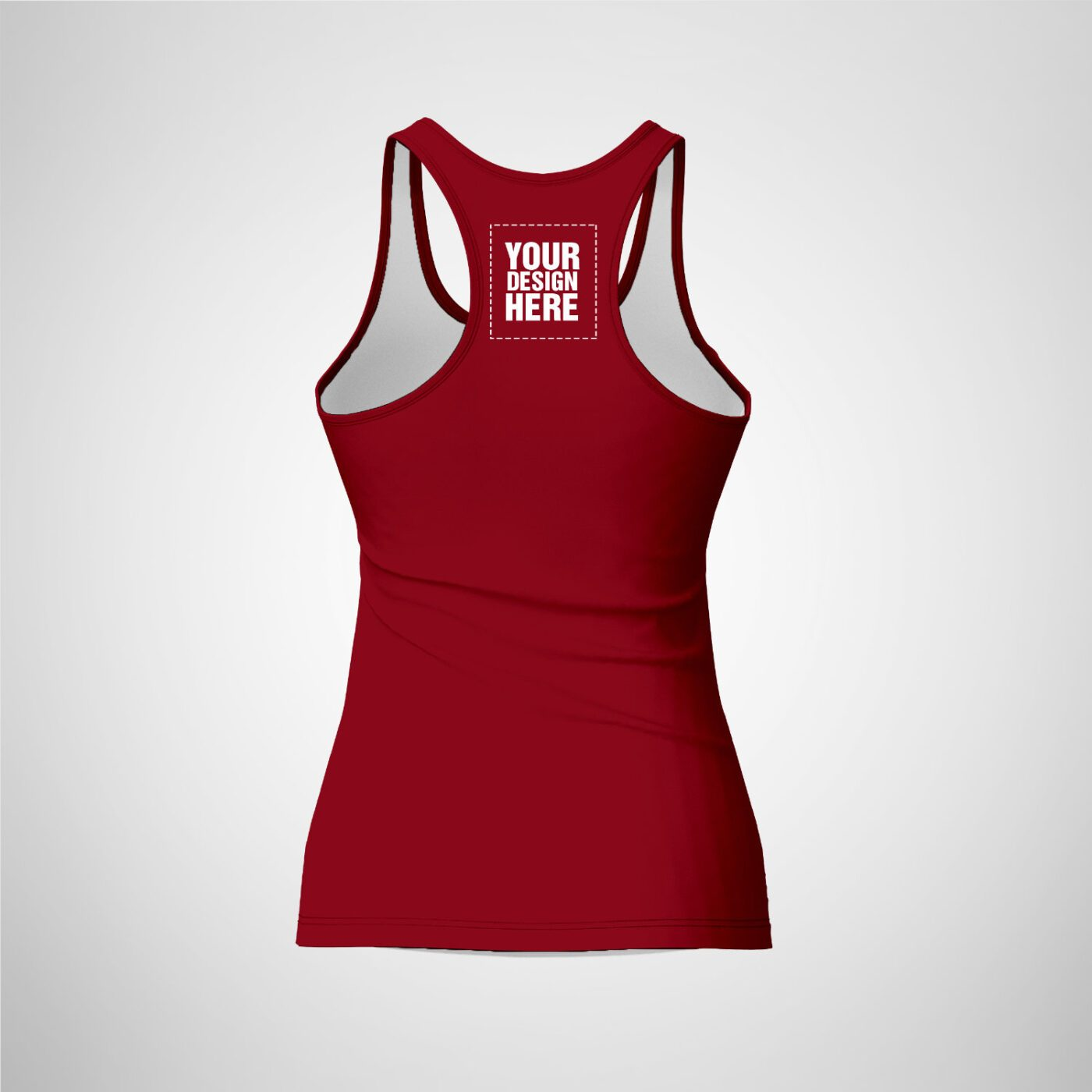 Womens Racerback - Maroon Color
