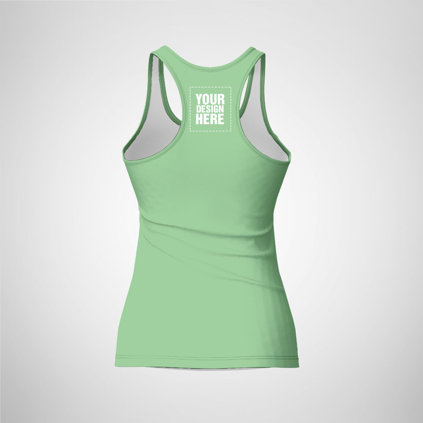 Womens Racerback - Dark Sea Green Color