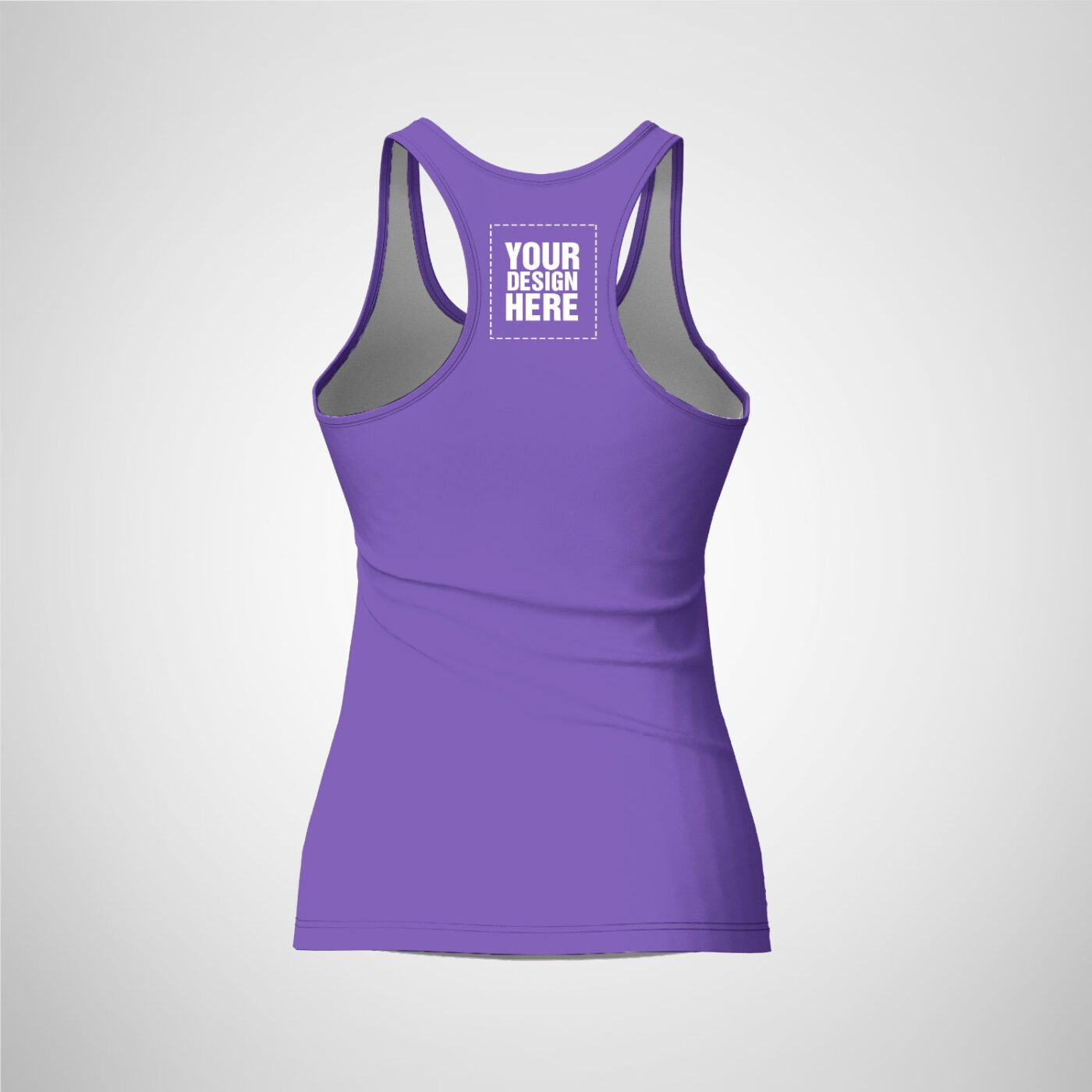 Womens Racerback - Medium Purple Color