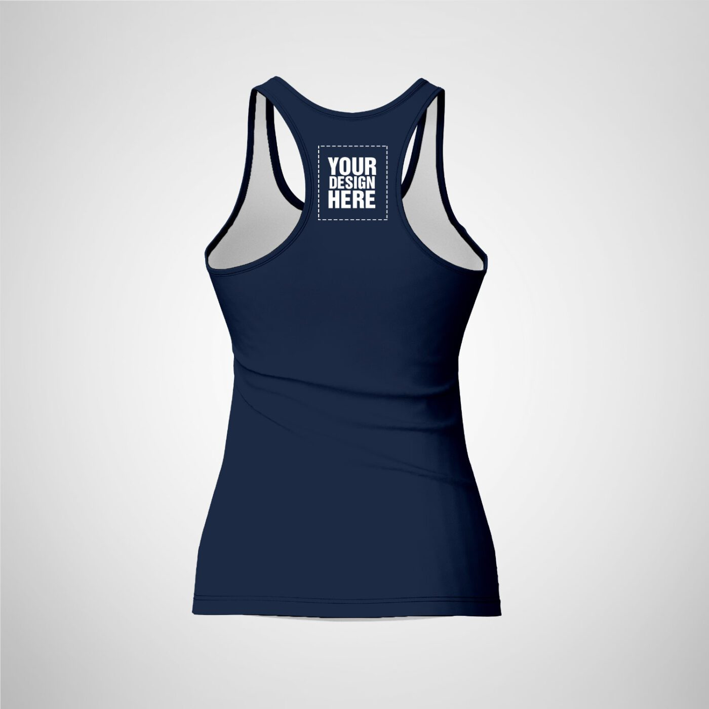 Womens Racerback - Dark Blue Color