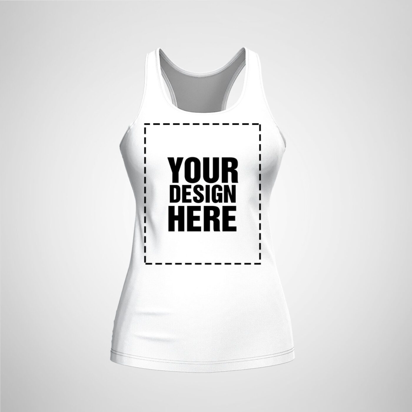 Womens Racerback - White Color