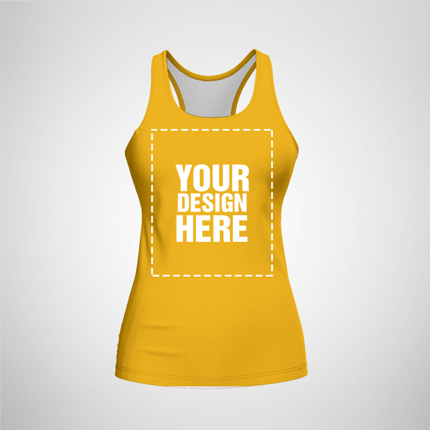 Womens Racerback - Golden Rod Yellow Color