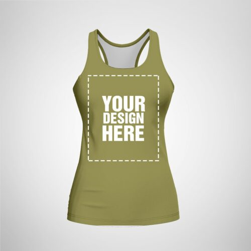 Womens Racerback - Khaki Color