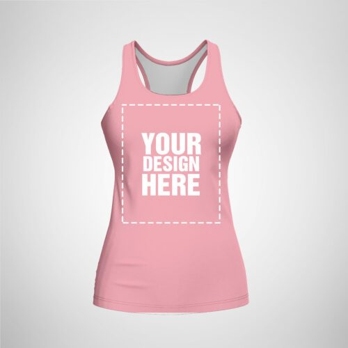 Womens Racerback - Light Pink Color