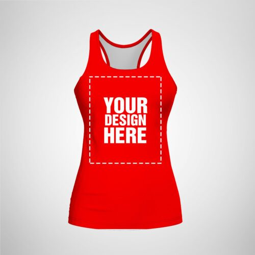 Womens Racerback - Red Color