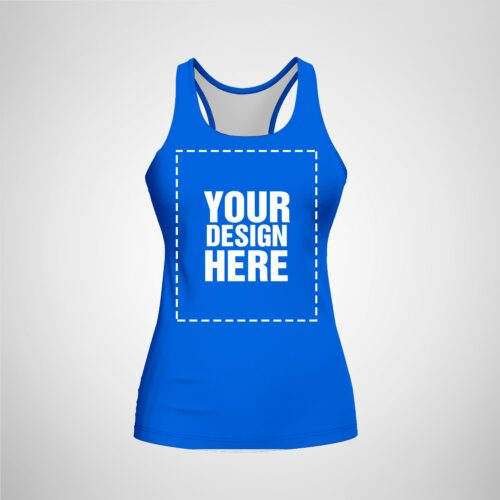 Womens Racerback - Royal Blue Color