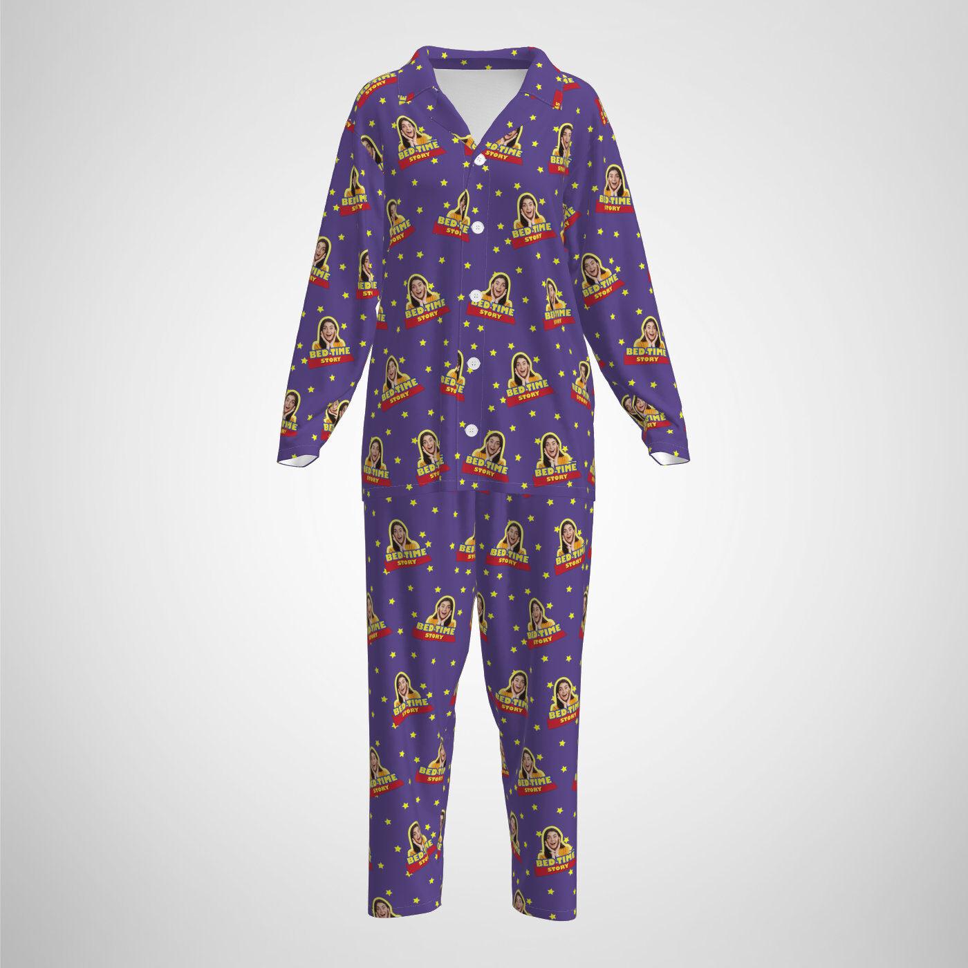 Custom Photo Cutout Pajamas Print on Demand